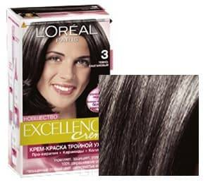LOreal, Краска для волос Excellence Creme (32 оттенка), 270 мл 3 Темно-каштановыйОкрашивание<br><br>
