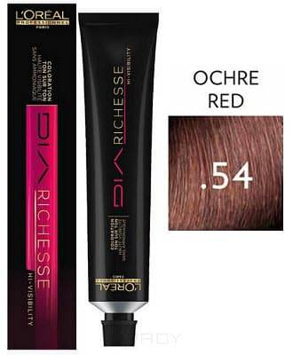 LOreal Professionnel, Краска дл волос Dia Richesse Hi-Visibility, 50 мл, 50 мл, (.54) красна охраОкрашивание: Majirel, Luo Color, Cool Cover, Dia Light, Dia Richesse, INOA и др.<br><br>