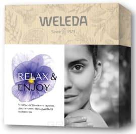 Купить Weleda, Подарочный набор «Relax & Enjoy : Легкий универсальный питательный крем Skin Food 75 мл + Лавандовое расслабляющее масло для тела 100 мл + Универсальный питательный крем Skin Food 10 мл