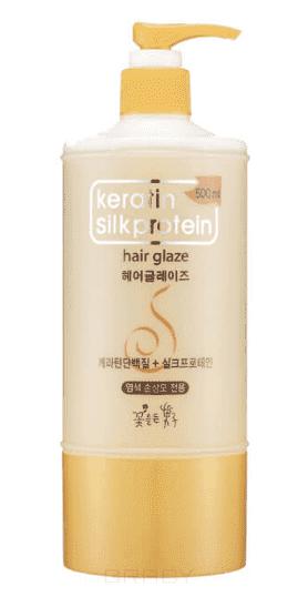 Keratin Silkprotein Hair Glaze Глазурь для укладки волос с протеинами шелка, 500 мл keratin silkprotein питающая молочная эссенция для волос с протеинами шелка hair milky essence 500 мл