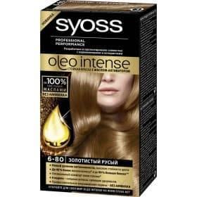 Syoss, Краска для волос Oleo Intense, 115 мл (26 оттенков) 6-80 Золотистый русыйGreenism - эко-серия для ухода<br><br>