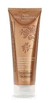 Асаи сыворотка Daily Smoothing Serum, 240 млРазглаживающая сыворотка Brazilian Blowout Acai Daily Smoothing Serum представляет собой средство ежедневного использования. Сыворотка невероятно экономична и гарантирует вашим волосам здоровье, блеск и красоту. Состав средства обеспечивает волосам глубокое питание и увлажнение, придает им дополнительный блеск, а также предохраняет от большинства негативных внешних факторов   хлорированная или морская вода, ультрафиолетовые лучи. &#13;<br>Состав сыворотки базируется на уникальном комплексе Brazilian Super-Nutrient Complex из ягод асаи, семян аннато, какао и каму-каму.<br>