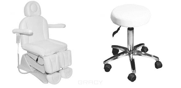 Кресло педикюрное Универсал (10285), стул (10301) в комплекте фанера пиломатериалы утеплители дмитровское шоссе