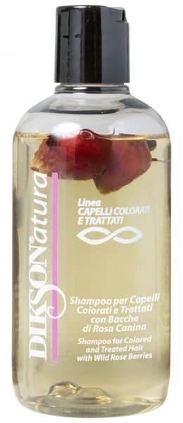 Dikson, Шампунь с ягодами красного шиповника для окрашенных волос Natura Shampoo per capelli color with Rose Hips, 250 млШампуни<br><br>
