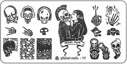 Planet Nails, Пластина для Stamping Nail Art (25 видов) - 17