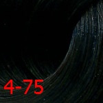 Купить Estel, De Luxe Стойкая крем-краска для волос серии Эстель Silver, 60 мл (60 оттенков) 4/75 Шатен коричнево-красный