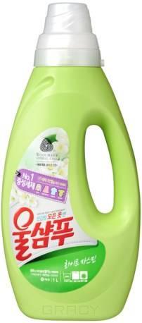 Wool Shampoo, Жидкое средство для стирки Жасмин, 1 л листы для стирки озон с ароматом свежей стирки