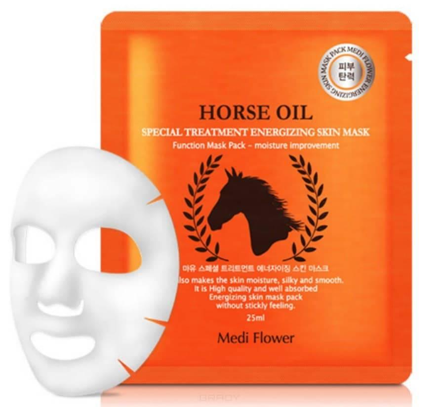 Купить Medi Flower, Интенсивно питательная маска с лошадиным маслом Special Treatment Energizing Mask Pack Horse Oil, 25 мл