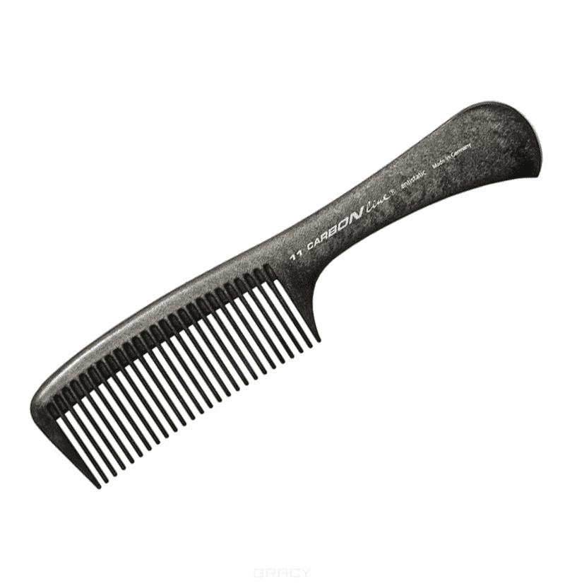 Расчёска карбоновая с ручкой C11Расческа карбоновая с ручкой Hercules C11. Карбоновая серия расчесок Hercules изготовлена из современного высокопрочного термопластика с углеродными волокнами. Расчёски абсолютно антистатичны, обладают малым весом и прекрасно скользят сквозь волосы.<br>