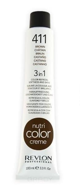 Купить Revlon, Крем-краска для волос 3 в 1 Nutri Color Creme, (52 оттенка) 411 Коричневый