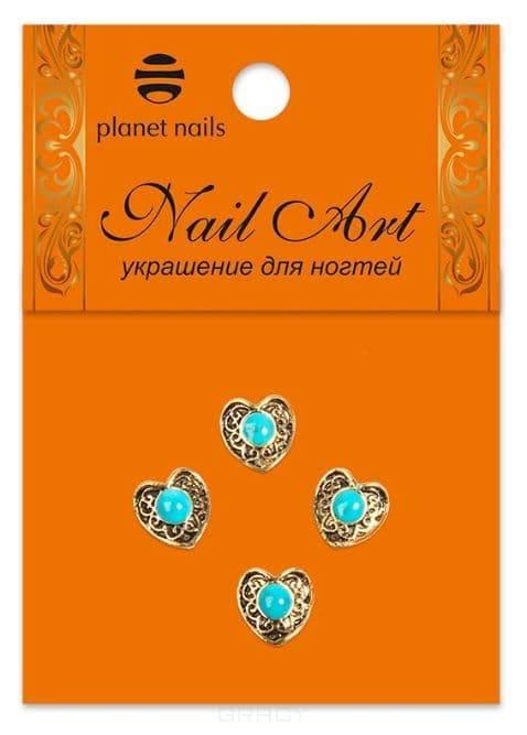 купить Planet Nails, Натуральные камни в оправе в ассортименте 4 шт/уп Планет Нейлс онлайн
