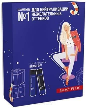 Matrix, Набор НГ19 шампунь + кондиционер (скидка на шампунь - 25%) Brass Off, 300/300 мл цены