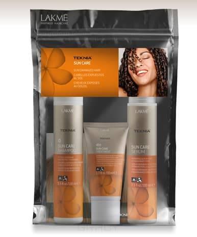 Набор Teknia Sun Care Travel Pack (Шампунь 100мл+Кондиционер 100мл+Маска 50мл)Набор Teknia Sun Care Travel Pack включает:&#13;<br>&#13;<br>  &#13;<br>&#13;<br>&#13;<br>Шампунь восстанавливающий для волос после пребывания на солнце (Sun care shampoo), объем 100 мл&#13;<br>&#13;<br>&#13;<br>  &#13;<br>&#13;<br>&#13;<br>Сыворотка для восстановления поврежденных солнцем кончиков волос (Sun care serum), объем 100 мл&#13;<br>&#13;<br>&#13;<br>  &#13;<br>&#13;<br>&#13;<br>Интенсивное восстанавливающее средство для волос после пребывания на солнце, объем 50 мл<br>