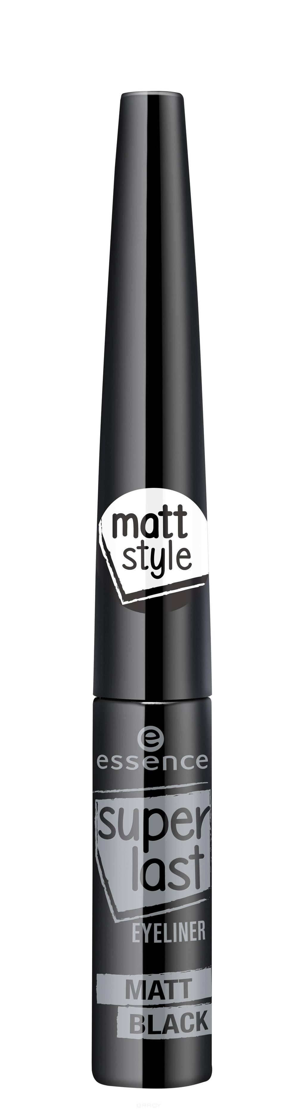 Essence, Подводка для глаз матовая Superlast Eyeliner Matt Black, 3 мл недорого