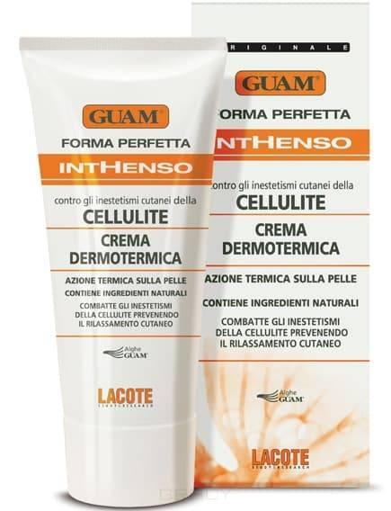Guam, Крем антицелллитный с разогреващим ффектом интенсивный Inthenso, 200 млЛинии антицелллитных кремов Crema, Snell, Inthenso, Anticellulite, Alga Stick-Cell<br><br>