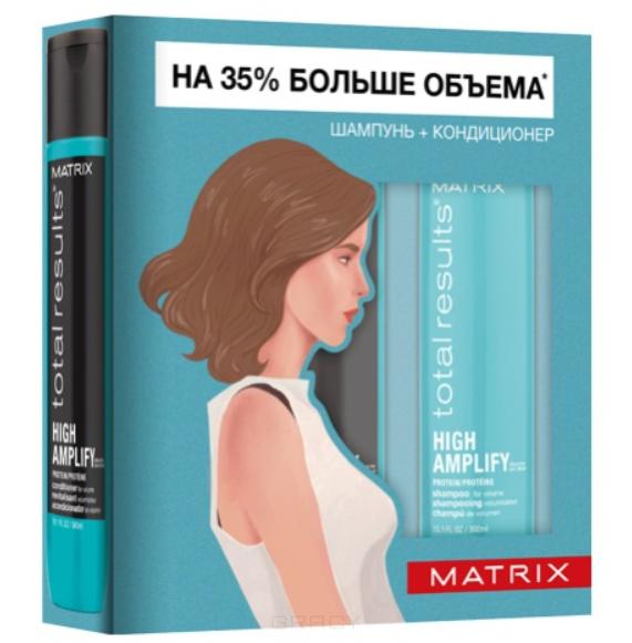 Matrix, Весенний набор для волос шампунь + кондиционер High Amplify, 300/300 мл кондиционер matrix high amplify conditioner 300 мл