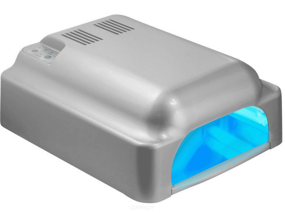 Planet Nails, УФ лампа 36W ASN Profi с вентилятором серебряная planet nails уф лампа av 36w 5 modern черно серебряная