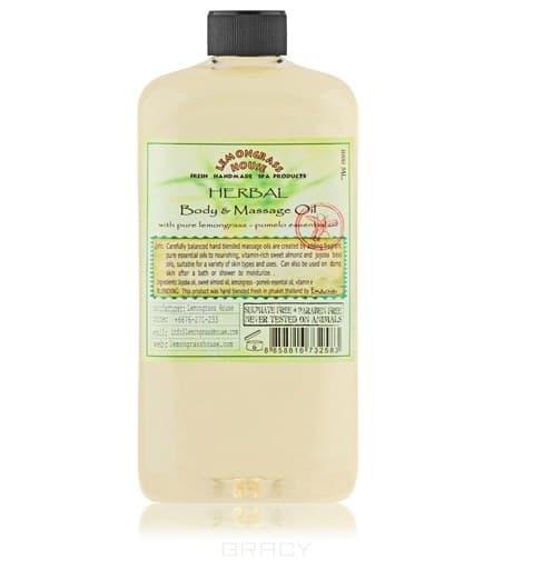 Массажное масло Смесь трав, 1лСостав:&#13;<br> &#13;<br>Масло жожоба, масло сладкого миндаля, эфирное масло лемонграсса, эфирное масло помело, витамин Е<br>