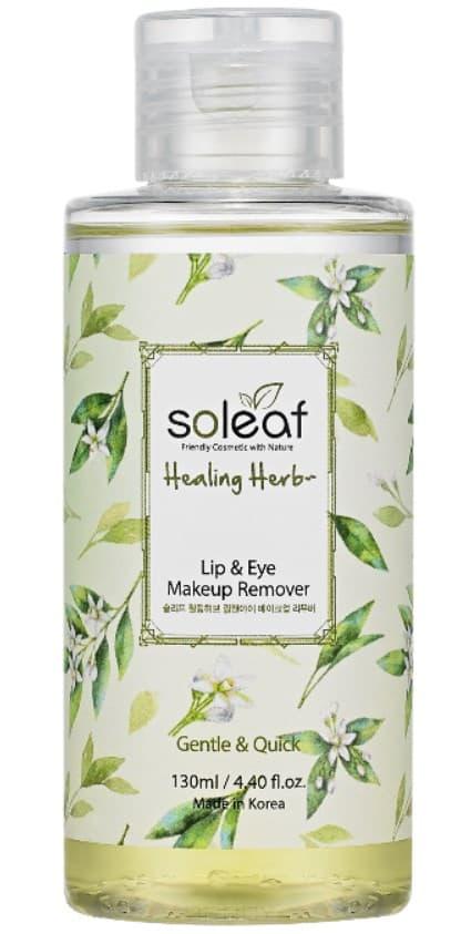 Купить Soleaf, Средство для снятия макияжа с глаз и губ с целебными травами Healing Herb Lip & Eye Makeup Remover, 130 мл