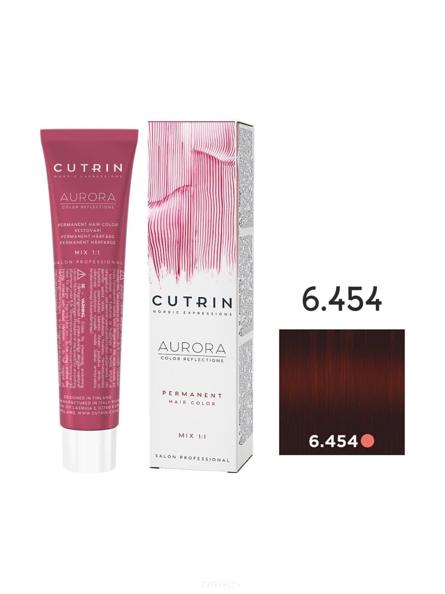 Cutrin, Кутрин краска для волос Aurora Аврора (SCC-Reflection) (палитра 97 оттенков), 60 мл 6.454 Брусника недорого