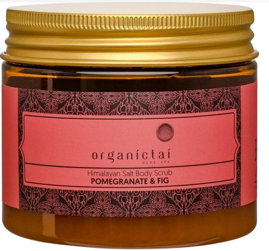 Купить Organic Tai, Скраб для тела на основе гималайской соли с экстрактом граната и инжира Himalayan Salt Body Scrub Pomegranate & Fig, 200 мл