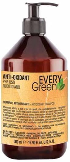 Шампунь Антиоксидант Everygreen Anti-Oxidant Shampoo Antiossidante, 500 мл антиоксидант маска everygreen anti oxidant mashera antiossidante