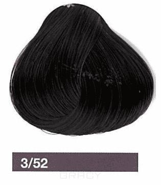 Lakme, Перманентная крем-краска Collage, 60 мл (99 оттенков) 3/52 Темный шатен махагоново-фиолетовый eugene carmen ultime перманентная крем краска 3 темный шатен 60 мл