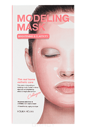Modeling Mask Collagen Альгинатная маска для лица, коллагеновая, 200  (8 применений) Холика