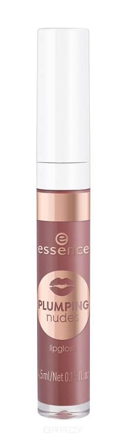Купить Essence, Блеск для губ Plumping Nudes Lipgloss, 4.5 мл (7 тонов) №05, красно-коричневый