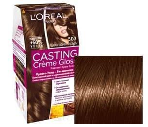 L'Oreal, Краска для волос Casting Creme Gloss (37 оттенков), 254 мл 503 Шоколадное золото l oreal краска для волос casting creme gloss 37 оттенков 254 мл 8304 карамельный капучино