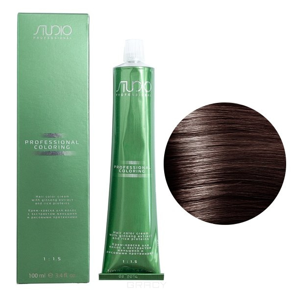 Kapous, Крем-краска для волос с экстрактом женьшеня и рисовыми протеинами Studio Professional, 100 мл (2 оттенка), 100 мл, 6.8 каппучино цены онлайн