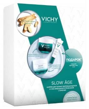 Купить Vichy, Набор Слоу Аж: Дневной крем для нормальной кожи + Ночной крем + Крем для глаз Slow Age, 50/50/15 мл