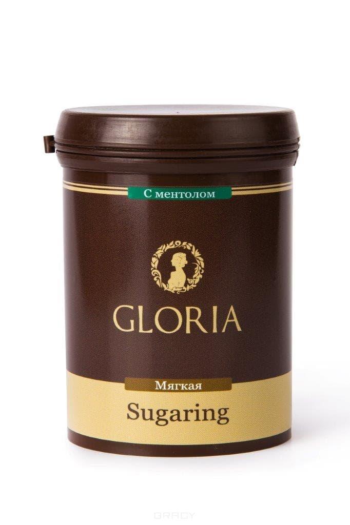 Паста для шугаринга мягкая с ментоломПаста Gloria одна из самых экономичных паст для шугаринга, представленных сегодня на российском рынке. Шугаринг с Gloria подходит для чувствительной кожи, гипоаллерген, безопасен, ухаживает за кожей, гигиеничен, и экономичен.&#13;<br> &#13;<br> &#13;<br>      &#13;<br>     &#13;<br> &#13;<br>Состав: глюкоза, фруктоза, лимонная кислота, вода. Срок годности: 3 года с даты изготовления. Кол-во процедур: 10 - 12<br>