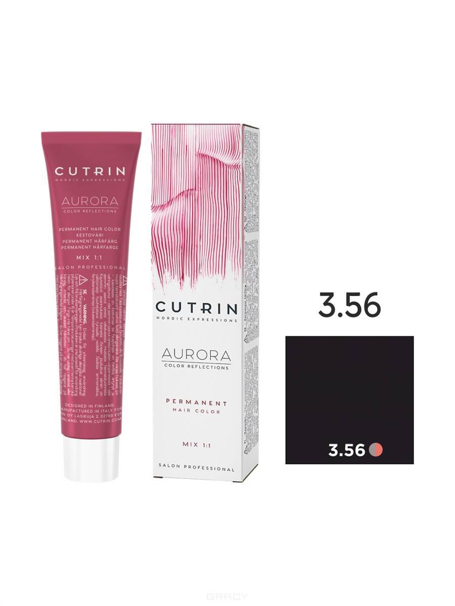 Cutrin, Кутрин краска для волос Aurora Аврора (SCC-Reflection) (палитра 97 оттенков), 60 мл 3.56 Полярная ночь cutrin кутрин краска для волос aurora аврора scc reflection палитра 97 оттенков 60 мл 0 03 прикосновение солнца