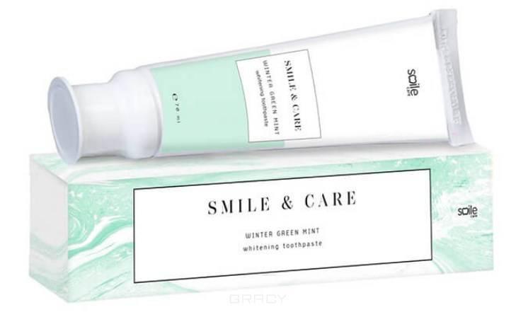 Smile Care, Зубная паста Отбеливающая зимняя мята Winter Green Mint Whitening Toothpaste, 70 мл pearl drops зубная паста молодая улыбка каждый день youthful smile 50 мл