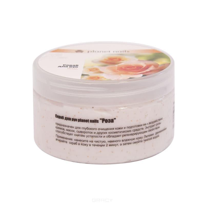 Скраб для рук Роза, 230 млПредназначен для глубокого очищения кожи и подготовки её к воздействию кремов, масок, сывороток и других косметических средств. Экстракт розы способствует снятию усталости и обладает регенерирующим свойством.&#13;<br>&#13;<br>  &#13;<br>&#13;<br>&#13;<br>Способ применения:&#13;<br>&#13;<br>Нанесите на чистую, немного влажную кожу. Легкими движениями втирайте скраб в кожу в течении 2 минут, а затем смойте теплой водой.<br>