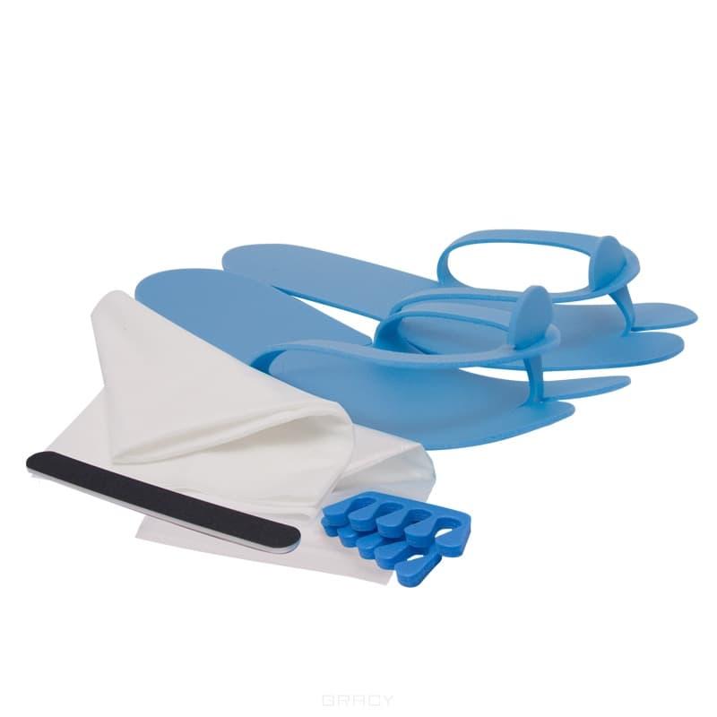 Planet Nails, Комплект одноразовый для педикюра №1 ubu набор для педикюра tippy toze кусачки разделители пальцев пилка со среднезернистым покрытием