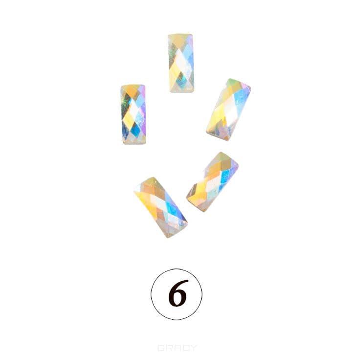 Купить Planet Nails, Цветные фигурные стразы в ассортименте (76 видов), 5 шт/уп Планет Нейлс №6