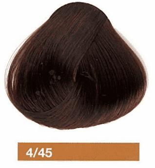 Купить Lakme, Перманентная крем-краска Collage, 60 мл (99 оттенков) 4/45 Средний шатен медно-махагоновый