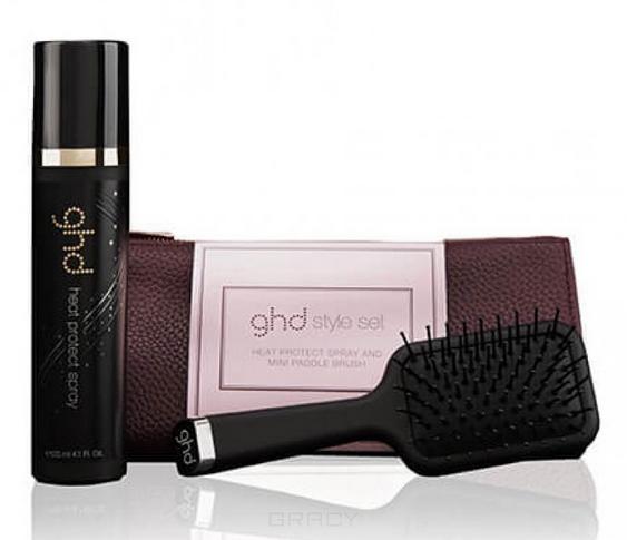 Купить GHD, Набор Эксклюзивная щетка для волос, термозащитный спрей для волос, роскошная косметичка