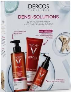 Vichy, Набор Денси-Cолюшнc: Уплотняющий Шампунь + Сыворотка для роста волос + Уплотняющий восстанавливающий Бальзам Densi-Solutions, 250/100/150 мл фото