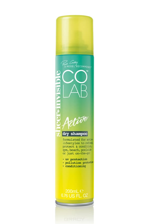 CoLab, Сухой шампунь прозрачный Active, 200 мл colab сухой шампунь прозрачный active 200 мл