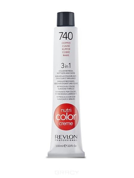 Revlon, Крем-краска 3 в 1 Nutri Color Creme, (29 оттенков) 740 МедныйОкрашивание волос Revlonissimo Colorcosmetique, Hight Coverage, Nutri Color Creme и др.<br><br>