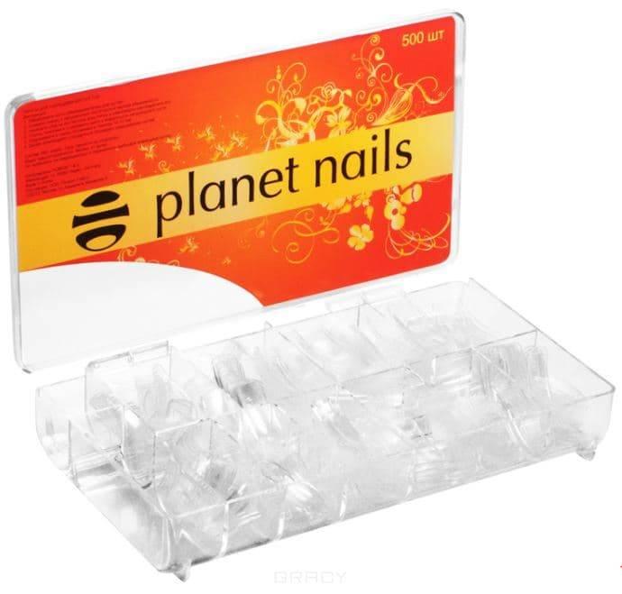 цена Planet Nails, Типсы прозрачные Планет Нейлс, №1-10, 100 шт/уп