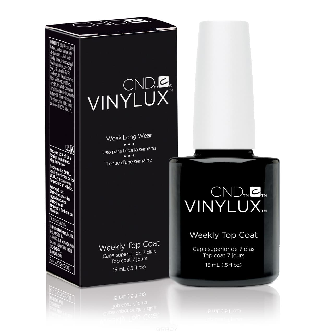 CND (Creative Nail Design), Винилюкс Верхнее покрытие VINYLUX™ Weekly Top Coat, 15 мл cnd топ super shiney top coat 9 8 мл