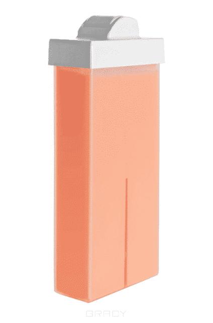Воск в картридже розовый с маленьким роликом, 100 мл yoko воск для депиляции в картридже мед 100 мл