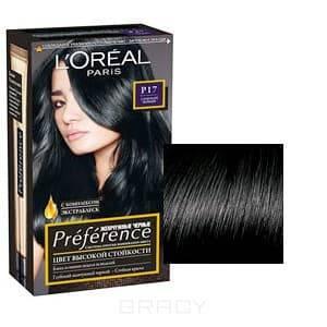 LOreal, Краска для волос Preference Feria (6 оттенков), 270 мл P17 Глубокий черныйGreenism - эко-серия для ухода<br><br>