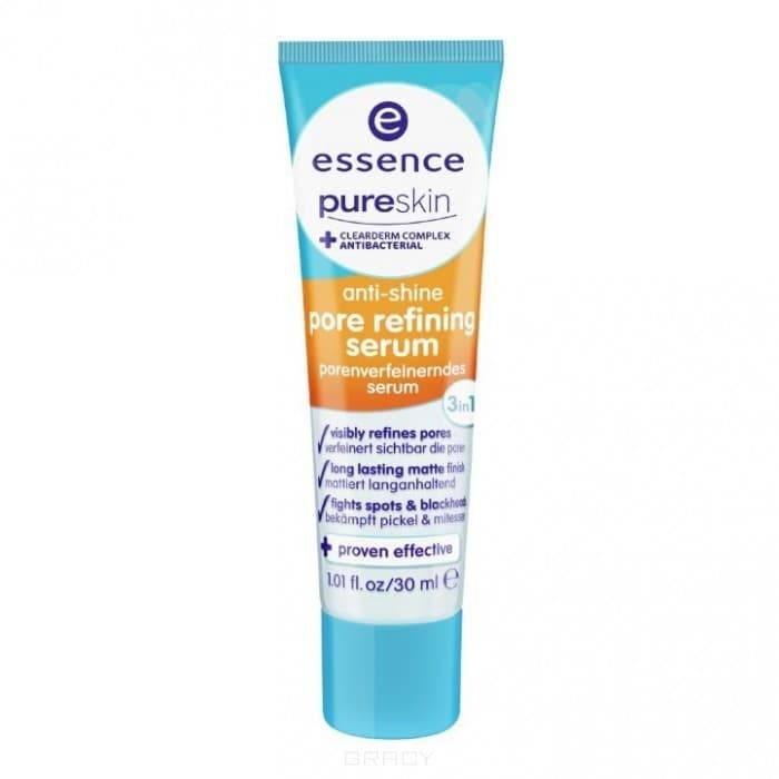 Очищающая сыворотка PureSkin Anti-Shine Pore Refining Serum, 30 млОписание:&#13;<br> &#13;<br> Антибактериальная матирующая сыворотка. Тройное действие! Эта сыворотка - идеальное многофункциональное средство для ежедневного ухода за кожей. Быстро абсорбирующая формула с очищающим комплексом эффективно регулирует жировые выделения пор, матирует и борется с повторным появлением проблем кожи. Содержит zinc pca. Высокоэффективный новый продукт для гладкого и шелковистого цвета лица. &#13;<br> &#13;<br> Состав:&#13;<br> &#13;<br> Aqua (water), caprylic/capric triglyceride, coco-caprylate, butylene glycol, c12-20 alkyl glucoside, c14-22 alcohols, polyacrylate crosspolymer-6, zinc pca, enantia chlorantha bark extract, oleanolic acid, methyl methacrylate crosspolymer, ethylhexylglycerin, phenoxyethanol, parfum (fragrance), linalool, limonene, geraniol, coumarin, ci 1910 (yellow 5), ci 42090 (blue 1).<br>