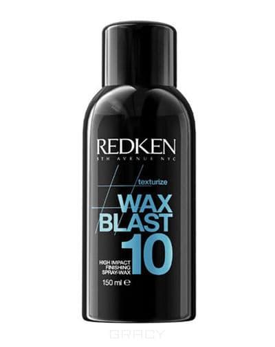 Redken, Текстурирующий спрей-воск для завершения укладки Wax Blast 10, 150 мл redken спрей сильной фиксации для завершения укладки forceful 23 400 мл