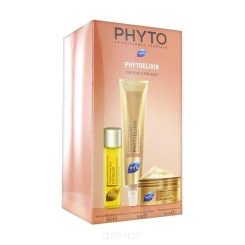 Phytosolba, Набор Фитоэликсир: Крем-уход очищающий + Масло-уход + Маска Интенсивное питание, 10+30+50 мл phytosolba фитоденсия маска флюид уплотняющая 50 мл